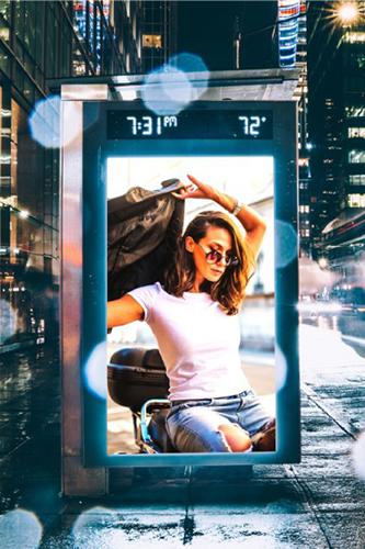 LCD液晶ディスプレイ屋外